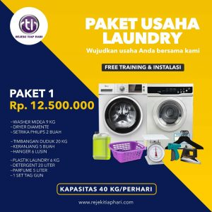 Paket Usaha Laundry Kiloan Pemula Basic 1