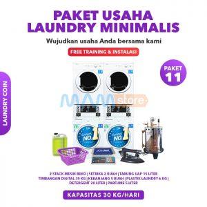 Paket Usaha Laundry Coin Minimalis
