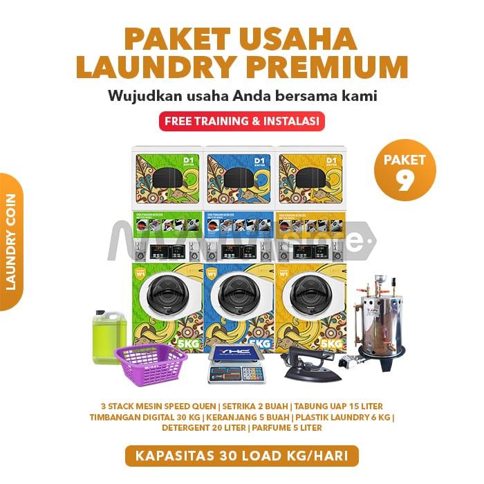 Paket Usaha Laundry Coin Premium 9