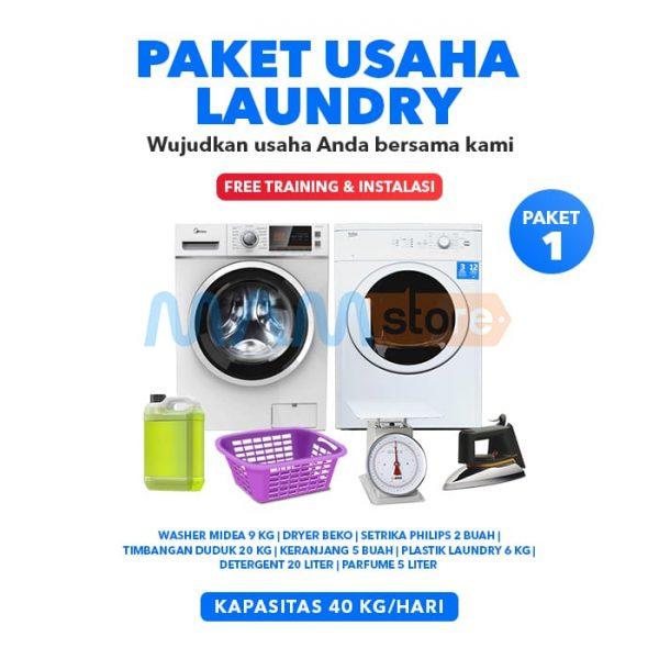 Paket Usaha Laundry Kiloan Basic