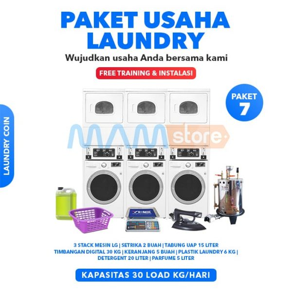 Paket Usaha Laundry Coin 7