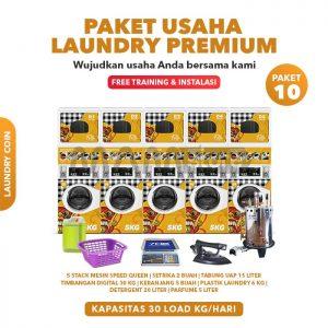 Paket Usaha Laundry Coin Premium 10