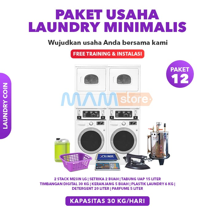 Paket Usaha Laundry Kiloan Minimalis 2